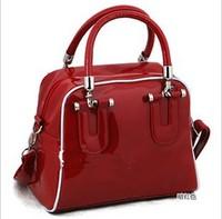 Fashion Girls Women's Patent pu Leather Handbag Ladies Candy colors clutch Shoulder Bag Totes Purse messenger bag NB0195