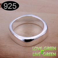 2014 pure 925 sterling silver plated Hotselling Square Shape Style cupper alloy fashion rings jewelry jewellry size  7 8