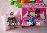 Kids cartoon Minnie Mouse watch Children wristwatch with box christmas gift 1pcs/lot+Free shipping