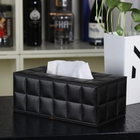 Brief sheepskin dsmv plaid line rectangle Large 6 color tissue box