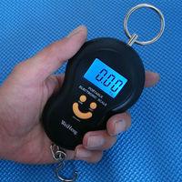Digital Smile Face Luggage Scale Portable 45KG/5g Backlight Wide Handle Hook Scale KG LB OZ