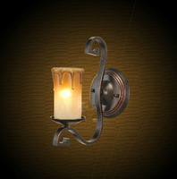 100% Quality Assurance Lamp Wall Lamp American Wrought Iron Wall Lamp Antique Candle Lamp