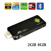 New MK809 III Rockchip RK3188  Quad Core TV BOX  MINI PC  Androind 4.2  TV Stick 2GB RAM 8GB ROM 1.8GHz  free Shipping