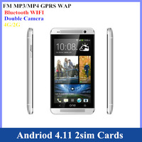 New arrival smart phone For H/T/C one 4.7 inch with 2sim cards WIFI GPS  Free shipping