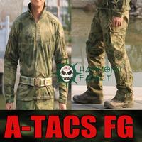 NEW type Camouflage Tactical Military Special Force Combat Uniform A-TACS FG Combat Suit &Pants multicam