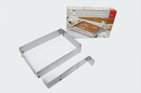 Baking Tools tiramisu mousse ring stainless steel adjustable 6-12 inch rectangular cake mould bakeware Free Shipping