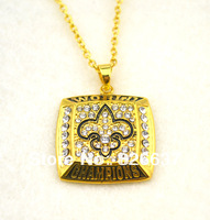 2009 New Orleans Saints Super Bowl championship pendant sport necklace,free shipping 5pcs 1lot