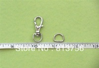 Free Shipping - Nickel Unwelded D Rings and Nickel Lobster Swivel Clasps Clips