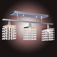 Free shipping Crystal Chandelier with 3pcs G9 Lights Lamp home decoration Lighting - Linear Design