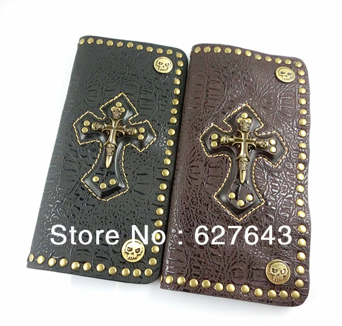 VW045/Factory Wholesale,2013,Men's Wallet Money Clip,Punk Style,Leather Vintage Wallet,Cool Wallets For Men,High Quality(China (Mainland))