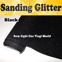 High Quality Black Sanding Vinyl Film Roll Wrap Air Free For Car Vinyl Wrap FedEx FREE SHIPPING  Size:1.52*30M/Roll
