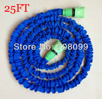 Free Shipping  25FT Expandable Garden Hose With Fast Green Connector As seen On TV