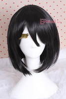 posh wig 25cm Attack on Titan Mikasa Ackerman Straight Cospiay  Wig  HYFS02A + Free wig cap