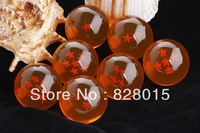 Free shipping hot toys Japan anime Dragon Ball Z Diameter 4cm Crystal Ball 7pcs/lot Fun toys for boys gifts