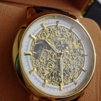 Fashion Brand Winner Luxury Leather Strap Women Men Mechanical  hand Wind Skeleton Watch For Women dress Wristwatch