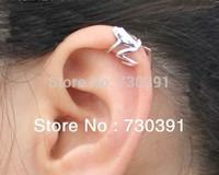 Free shipping New Design Punk Rock Unisex Silver Tone Frog Ear Cuff Wrap Ear Clip Earring