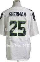 #25 Richard Sherman Jersey,Elite Football Jersey,Best quality,Authentic Jersey,Size M L XL XXL XXXL,Accept Mix Order