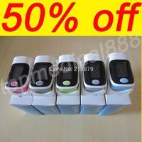 2013 Hot Sale Finer Pulse Oximeter 4 Colors OLED 4 Display Modes Waveform Spo2 Pr Monitor Free Ship Oxgyen monitor heart beat