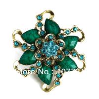 Free Shipping! Fashion Jewelry Gift For Women Resin Flower Shape Rhinestone Wedding Brooches For Bridesmaid Fashion