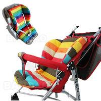 waterproof baby Stroller Cushion Stroller Pad Pram Padding Liner Car Seat Pad Rainbow general cotton thick mat