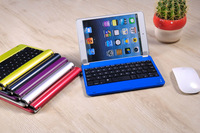 colorful Slim Aluminum Wireless Bluetooth Keyboard For Apple iPad Mini