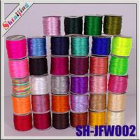Wholesales High Quality Taiwan 1.5mm 80 yard/ roll Shamballa Cord  Chinese Cord  macrame Satin Mixed colors