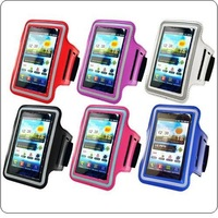 2013 Newest High Quality PU Leather Gym Sport Armband Phone Case Cover Fits Samsung Galaxy S4 Mini i9190 +Free Shipping 100pcs