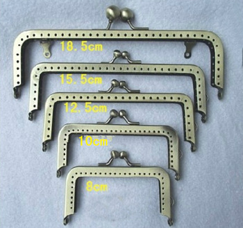 Track Ship+10pcs/lot DIY 18.5cm Smooth Metal Purse Frame Handle for Bag Sewing Craft Tailor Sewer