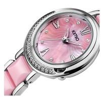 KIMIO Brand Quartz Watch For Women Dress Female Ladies High Quality  Fashion Ceramic Rhinestone Watches With Diamonds  ML0311