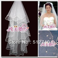 6 Free Shipping WHITE 1.5 Meters Small Pearl Veil - Long Veil Bridal Accessories FOR Wedding Dress this section for any style
