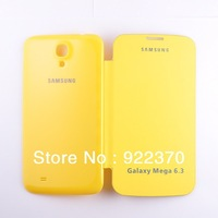 High Quality Back Battery Flip cover Case for Samsung galaxy mega 6.3 i9200,retail box,Free shipping MOQ:1PCS