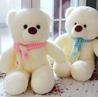 free shipping bear in pink scarf or blue scarf plush big teddy bear brinquedos toy birthday gift  plush bear 60-100cm high