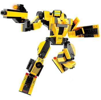 Free Shipping  SLUBAN plastic model kits,the Cheetah Robot building block sets , Educational DIY toys for Children