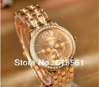 Free shipping,Fashion women watches ladies Geneva wristwatches bracelet watches women alloy band watches-Rose gold