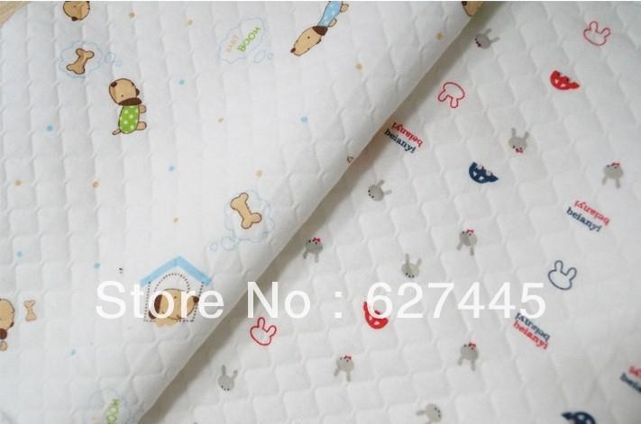 100% dessin animé de coton tissu tricoté, spécial bébé en tissu de coton, diy main accessoires