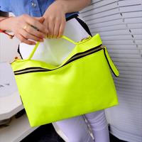2013 New Fluorescence Shoulder Bags Crossbody Bag Lady Zipper Totes Korean Women Handbag(FBG-188)