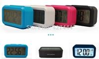 New Light Sensor LED Backlight LCD Digital Snooze Table Alarm Clock , blue back red , white  for choose