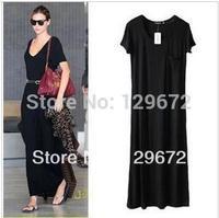 free shipping new women long dress summer fashion short sleeve Bohemia maxi dress for women floor length sexy dress brand