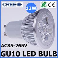 5PCS/Lot Ultra Bright Cree GU10 Led 12W Bulb GU10 Led Lamp Led Light Led Downlight AC85-265V CE/RoHS Warm/Cool White