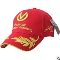 Free shipping men and women fashion F1 grain embroidery baseball cap hat motorcycle cap