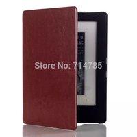 Crazy Horse Ultra Slim Luxury  Book PU Flip Leather Cover Smart Case With Auto Sleep for Kobo Aura H2O 2014 6.8'' Ereader E-book