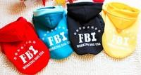 4 color FBI overcoat  jacket fashion pet clothes Fleece dog coat free shipping size S-XXL winter ware F114