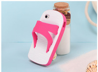 The new blue and white slippers Apple iphone4  4S cell phone case for iphone5 personalized silicone protective housing