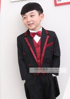 new 2013 tuxedo boy for wedding  child suit 9 piece / set 2-10 Age