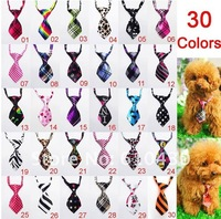 New  50pcs/Lot Wholesale Mix 35 Styles Polyester Pet Dog Necktie Adjustable Handsome Dog Bow Tie Pet Collar Pet Grooming Product
