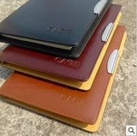 Ring binder high quality notepad leather binder diary notebook with surprinting logo