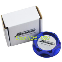 Free Shipping: JS-racing oil filter cap engine oil cap blue color aluminum material