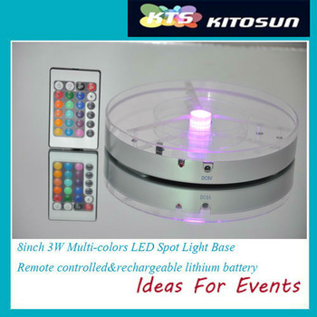 Free shipping Rechargeable Remote control 8inch LED wedding vase base light Floralytes Decoration Kit