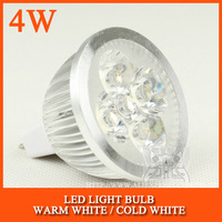 10pcs/lot MR16 High power led spotlight Bulb Lamp 4W Warm white/cold white 12V Free Shipping