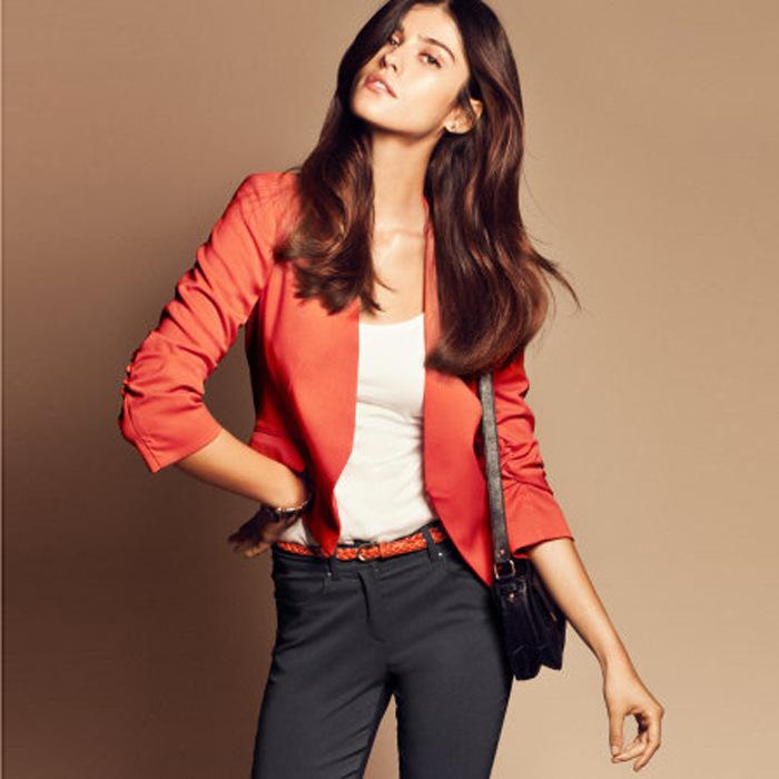 New WOMEN FASHION Candy-colored long-sleeved Small Slim Blazer 8530(China (Mainland))